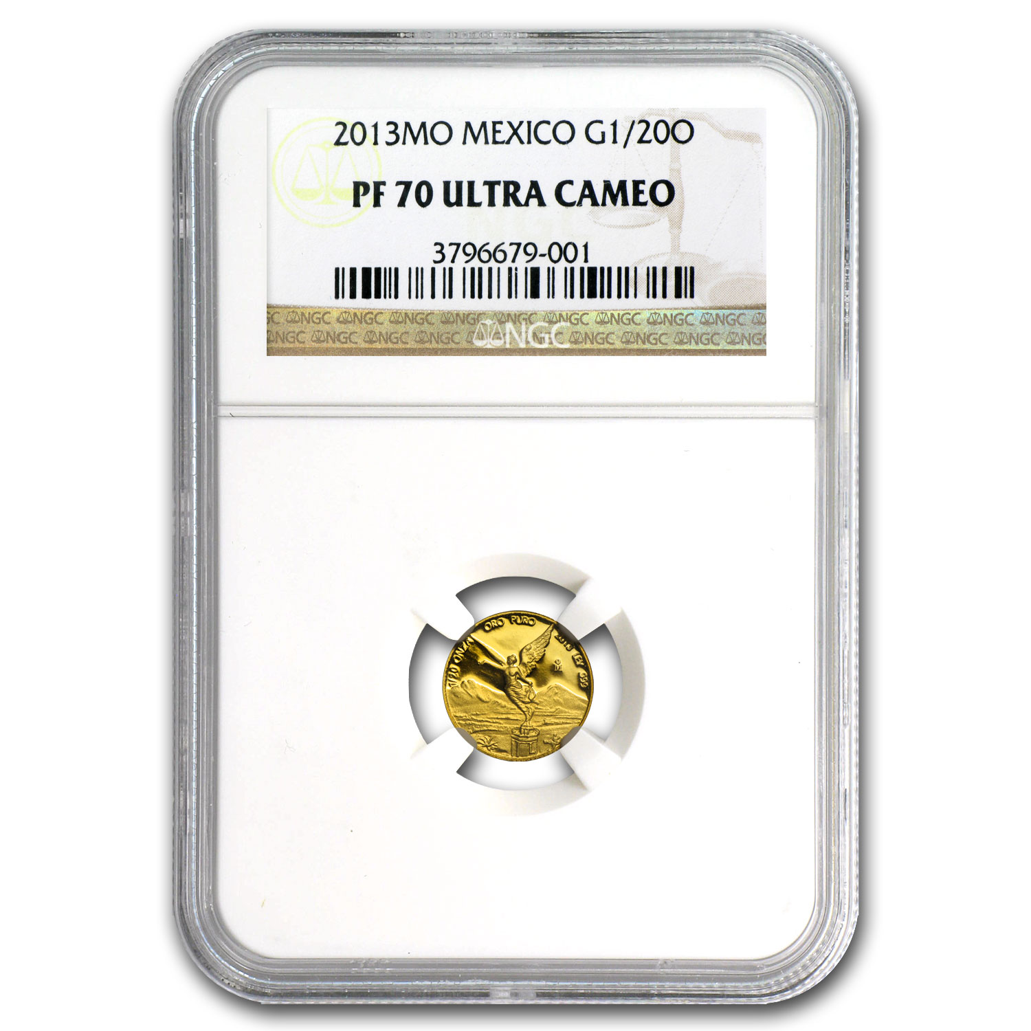 2013 Mexico 1/20 oz Gold Libertad PF-70 NGC